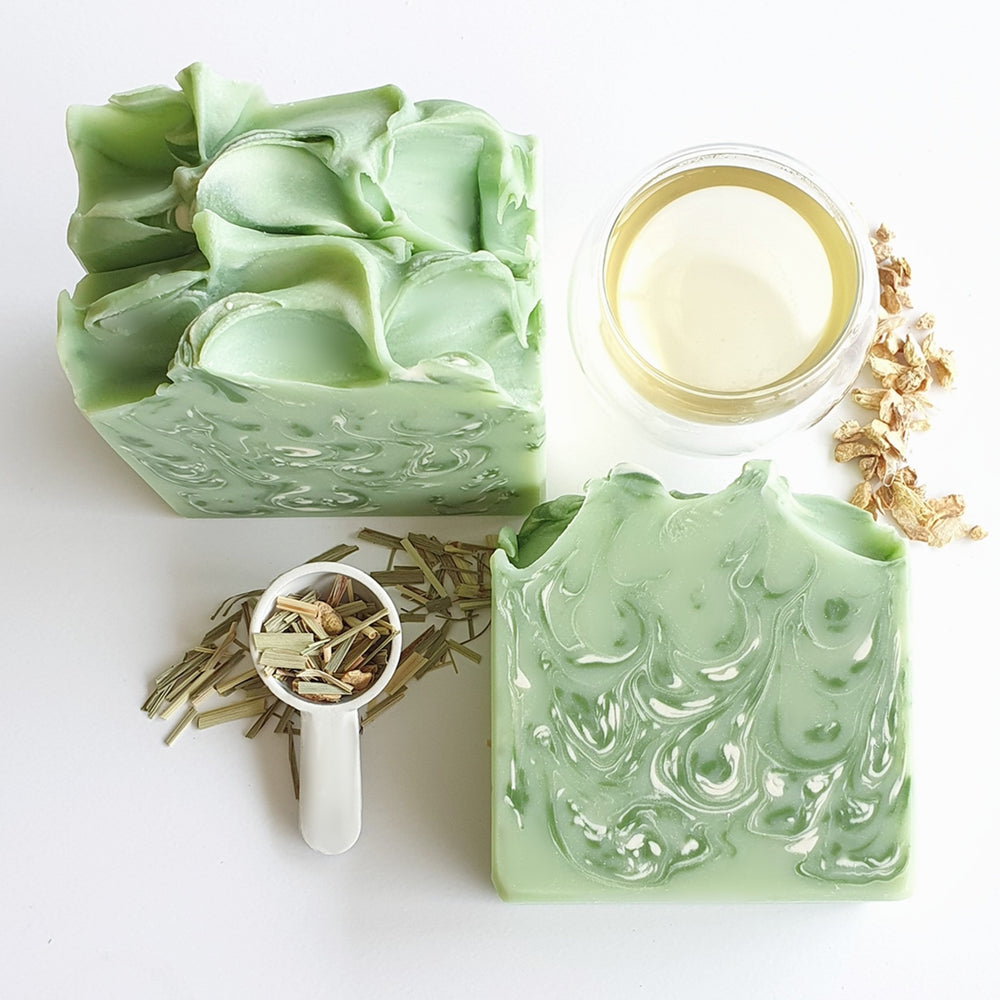 Organic Lemongrass, Ginger Tea & Lime Soap