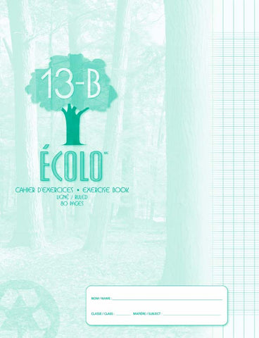 Standard seyes notebook Écolo # 13B, 80 pages