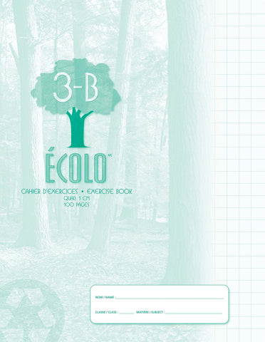 Standard quad notebook Écolo # 3B, 100 pages
