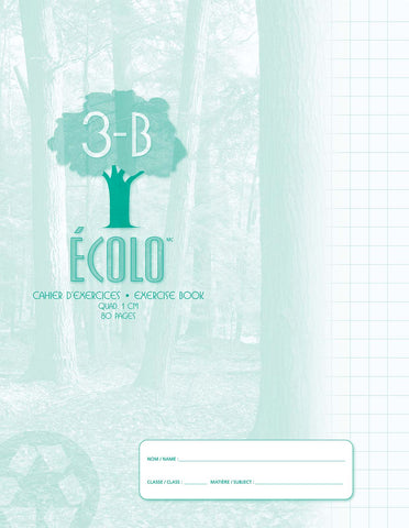 Standard quad notebook Écolo # 3B, 80 pages