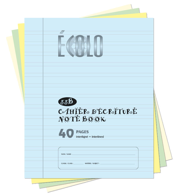 Small interlined notebook Écolo # 55B