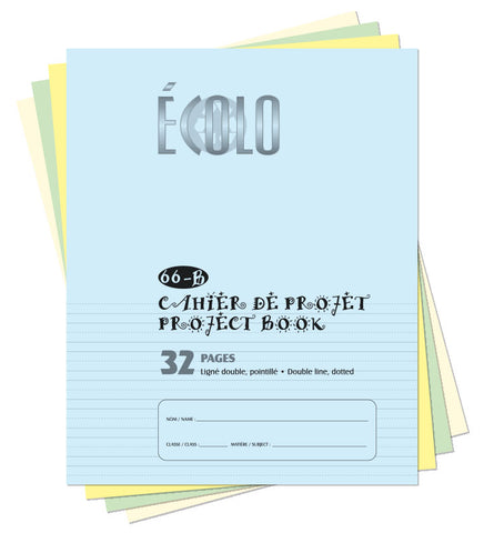 Small project notebook Écolo # 66B