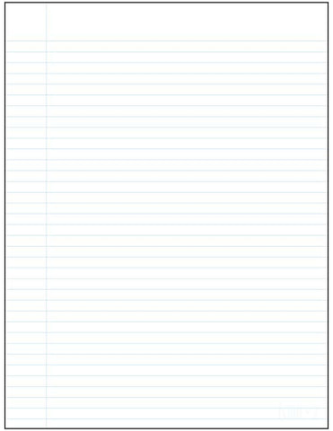 Standard ruled notepad Écolo # 2