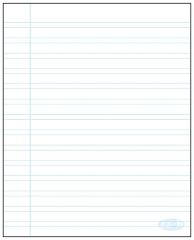Small interlined notepad Écolo # 55B
