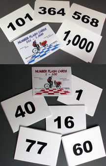 Number Flash Cards - 1- 100 or 101-1000 random