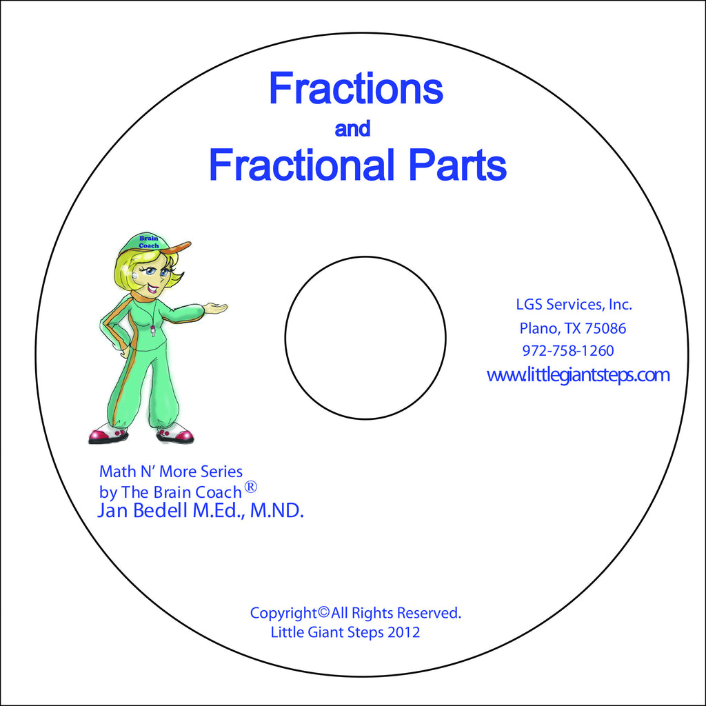 Fractions Visual Input Disc