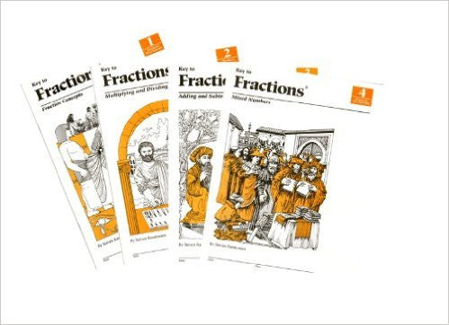 Key To Fractions Level 1,2,3,4 & Answer Key