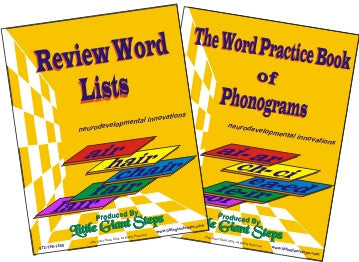 Phonics Word Practice Book of Phonograms & Review Word Lists Book