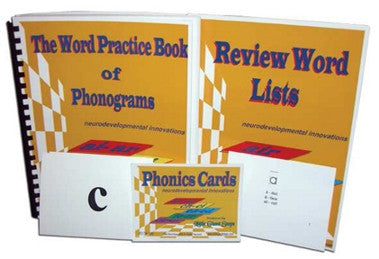 Phonics Set - Phonograms Practice Book, Review Word Book + Flash Cards