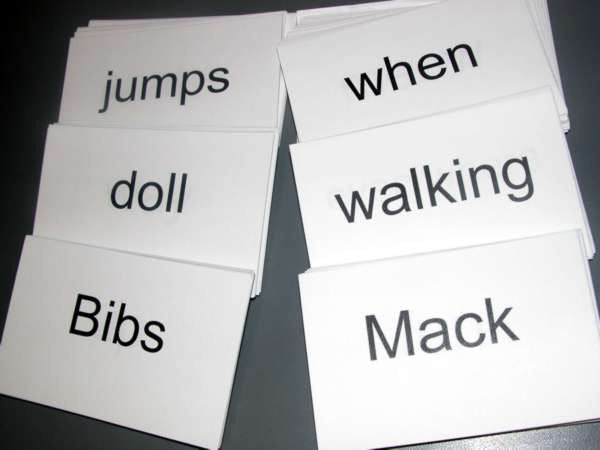 bibs mack flash cards