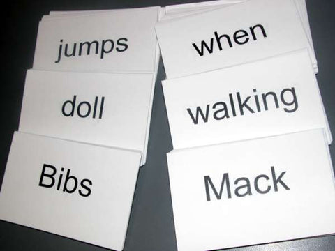Bibs or Mack Flash cards