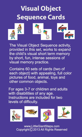 Visual Object Sequencing Cards