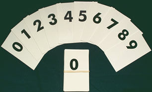 Visual Flash Digit Cards