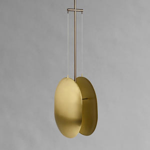 Clam Lamp Pendant - Brass