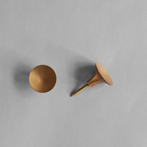 HiHat Knobs, 2 set Mini - Brass