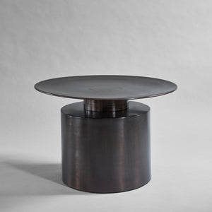 Pillar Coffee Table, Low - Zink Burned Black