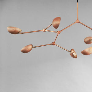 Drop Chandelier Perforated - Rose Metal