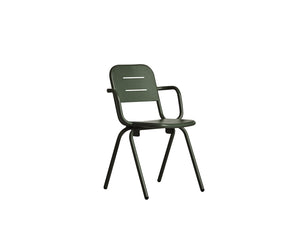 RAY café armchair, dark green