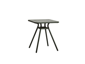 RAY square café table, dark green