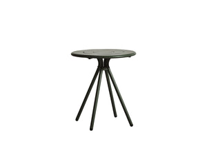 RAY round café table, dark green