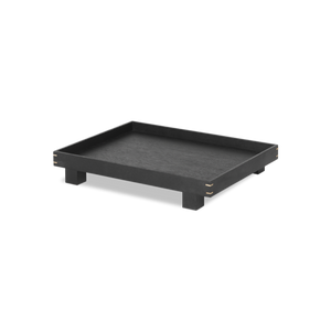 Bon Wooden Tray - Small, Black Stained Oak