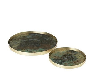 Ebba Glass Tray - ARMY - Set of 2 sizes