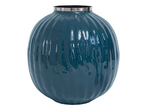 Enamelled Retro Vase - Josefine - L - PETROL