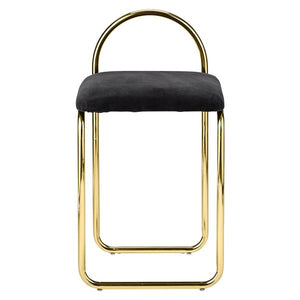 ANGUI chair, Anthracite/Gold