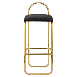 ANGUI bar chair H82, Anthracite/Gold