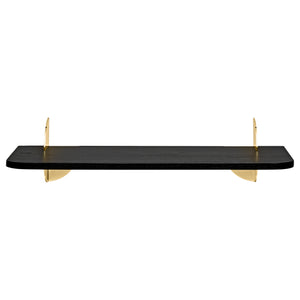 AEDES shelf L80, Black/Gold