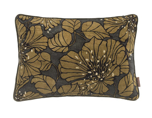 Dahlia Velvet printed Cushion - ARMY