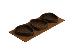 CURVE Serving Tray Set, Bull nature/SMOKED OAK
