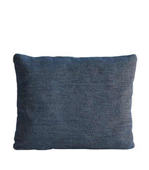 Canvas cushion, navy blue