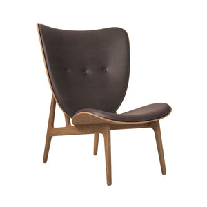 Elephant Chair - smoked oak/dark brown vintage leather