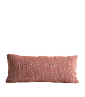 Herringbone cushion, carmine red
