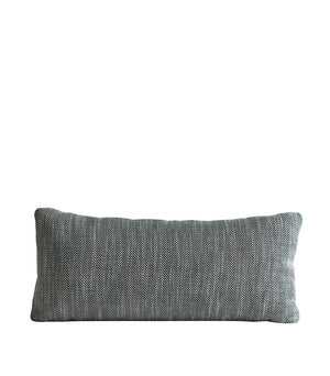 Herringbone cushion, forest green