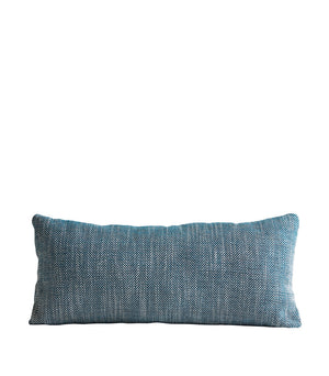 Herringbone cushion, petrol blue