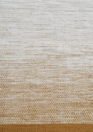 Lule rug, handwoven wool/cotton, ocre