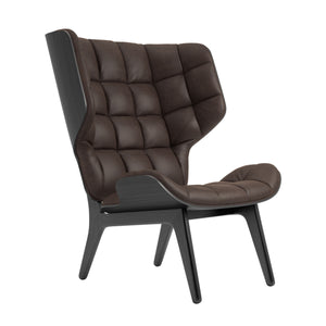 Mammoth Chair - Black Oak/Dark Brown Vintage Leather