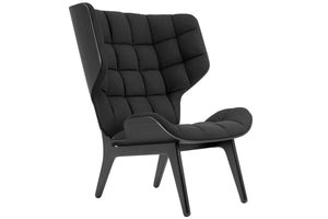 Mammoth Chair - Black Oak/Coal Grey Wool