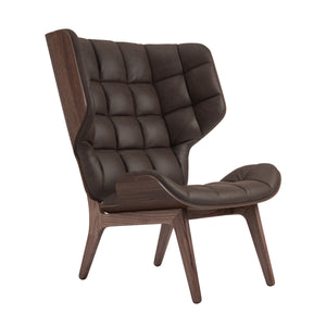 Mammoth Chair - Dark Stained Oak/Dark Brown Vintage Leather