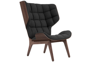 Mammoth Chair - Dark Stained Oak/Coal Grey Wool