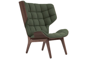 Mammoth Chair - Dark Stained Oak/Forest Green Wool