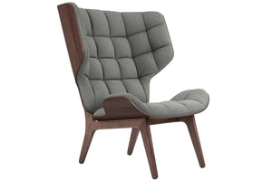 Mammoth Chair - Dark Stained Oak/Light Grey Wool