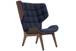 Mammoth Chair - Dark Stained Oak/Navy Blue Wool