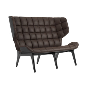 Mammoth Sofa - Black Oak/Dark Brown Vintage Leather