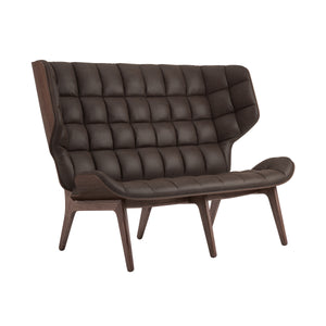 Mammoth Sofa - Dark Stained Oak/Dark Brown Vintage Leather