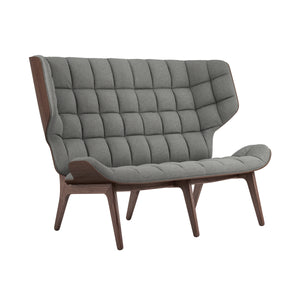 Mammoth Sofa - Dark Stained Oak/Light Grey Wool