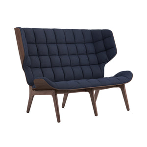 Mammoth Sofa - Dark Stained Oak/Navy Blue Wool