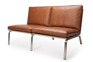MAN Sofa Two-Seater - Vintage Leather: Cognac